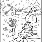 desene-de-colorat_copii-la-joaca-iarna